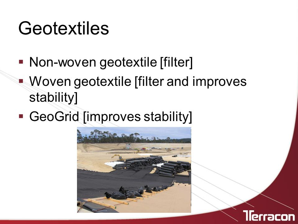 Geotextiles Non-woven geotextile [filter]